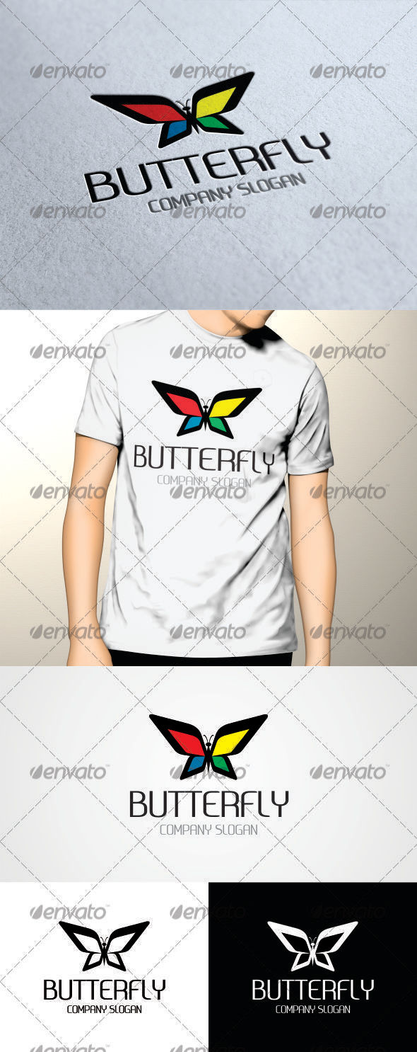 GraphicRiver Butterfly Logo V3 Template 3441420