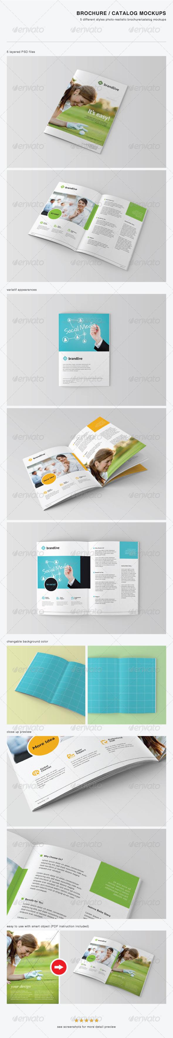 GraphicRiver Brochure Catalog Mockups 3441425