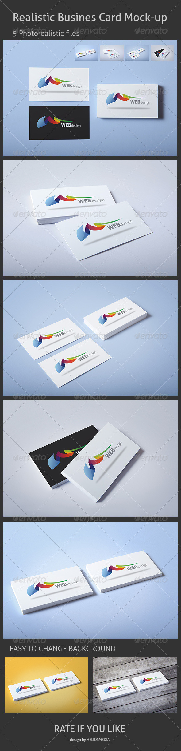 GraphicRiver Realistic Business Card Mock-up 3441462