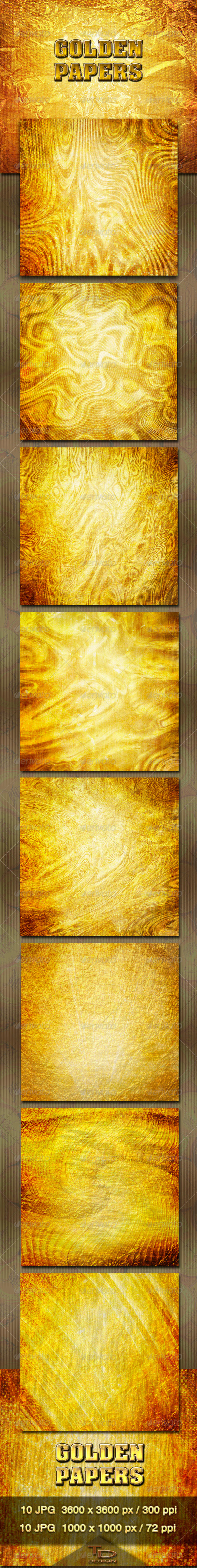 GraphicRiver Golden Papers 3441538