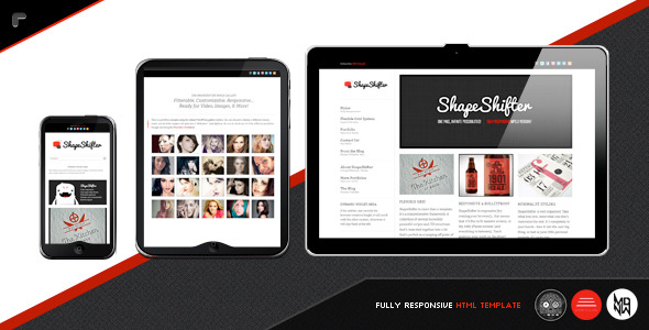 ShapeShifter 2 : Responsive, One Page, HTML Pack