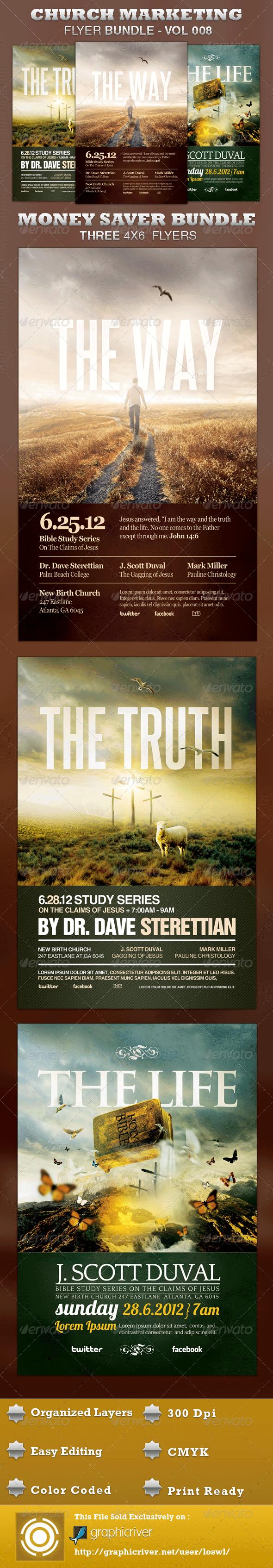 GraphicRiver Church Marketing Flyer Bundle-Vol 008 3442086