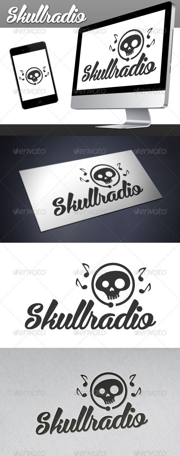GraphicRiver Skull Radio Logo 3442098