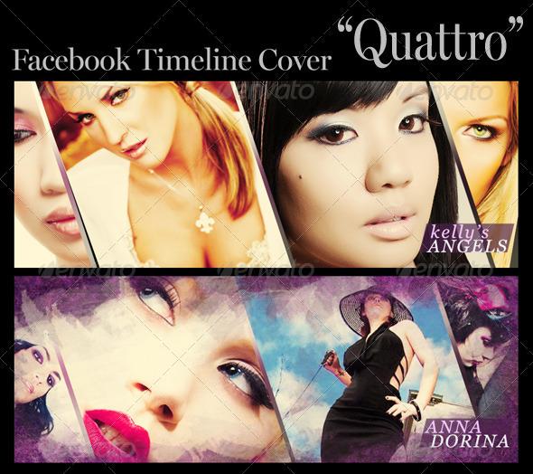 GraphicRiver FB Timeline Cover Quattro 3442235