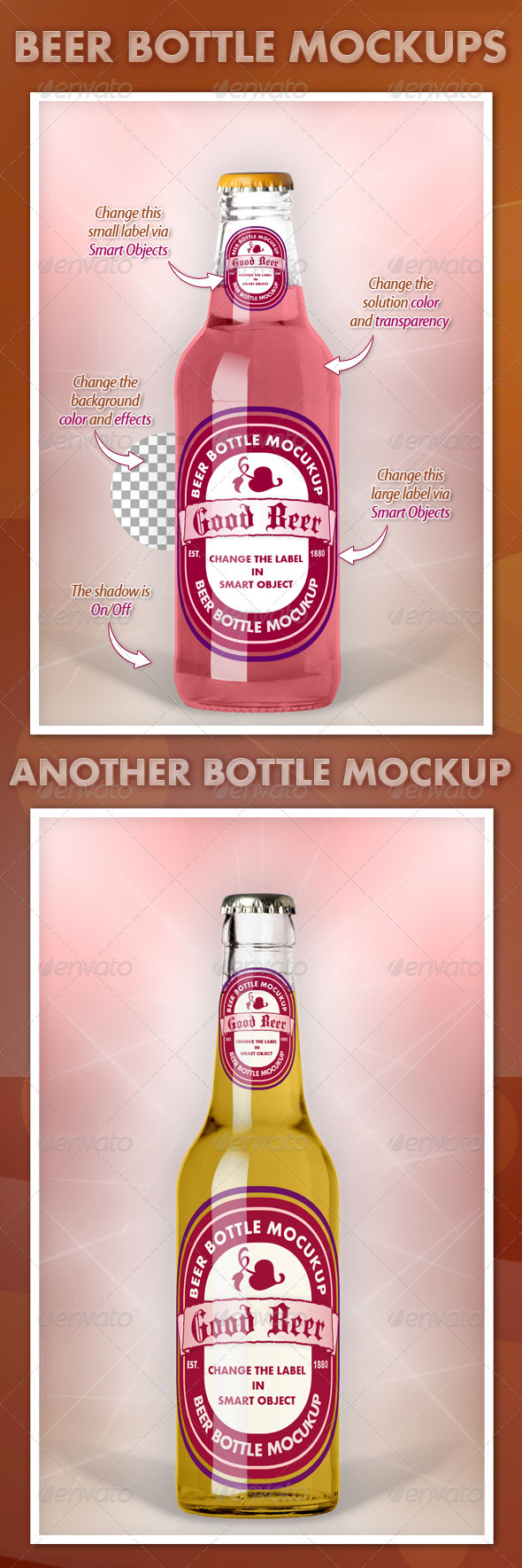 Beer Bottle Mockups V1.0 - Food and Drink Packaging
