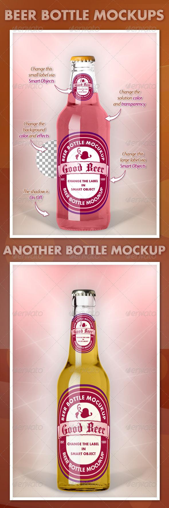 GraphicRiver Beer Bottle Mockups 3421705
