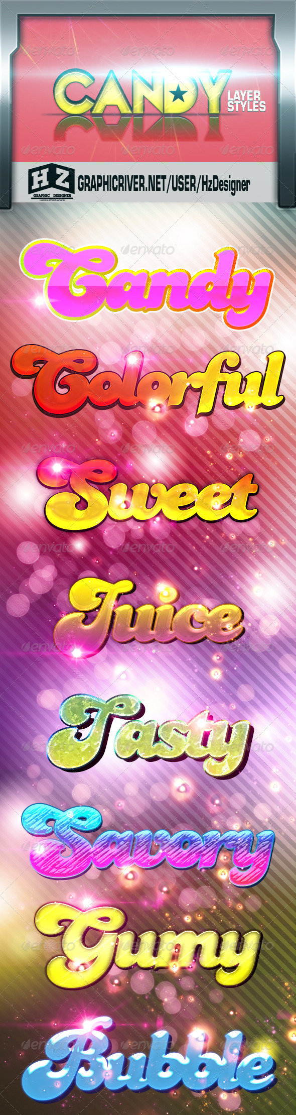 GraphicRiver Candy styles 3442414