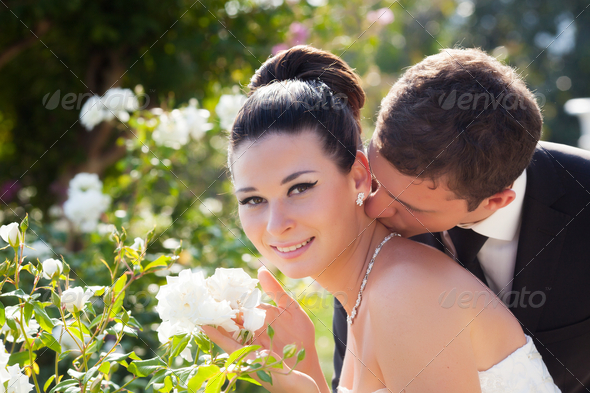 Bride and groom - Stock Photo - Images