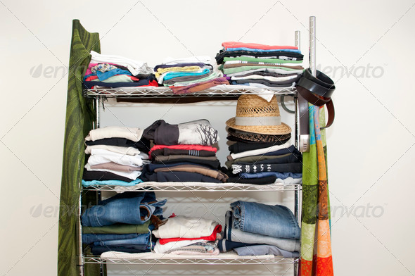 Clothes Rack Wardrobe - Stock Photo - Images