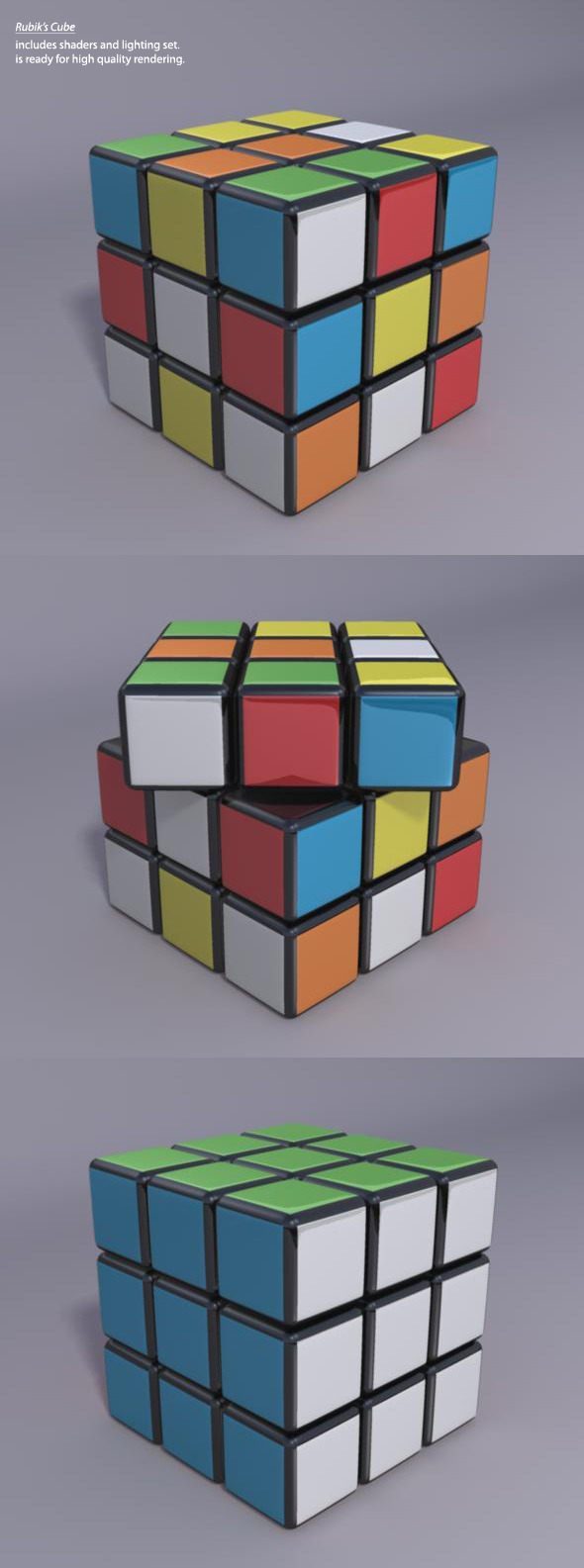 3D High quality Rubik's Cube - 3DOcean Item for Sale