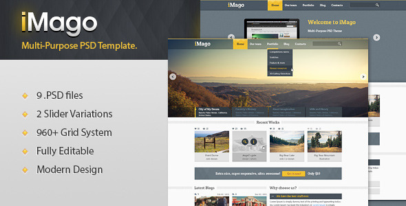 Imago - Multi Purpose PSD Template - Portfolio Creative