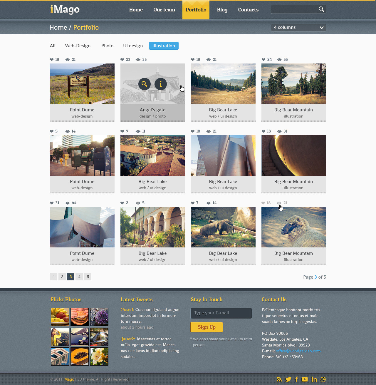 Imago - Multi Purpose PSD Template