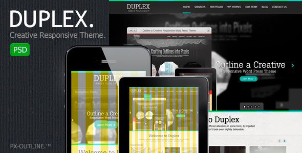 ThemeForest Duplex Creative Responsive PSD Template 2583301
