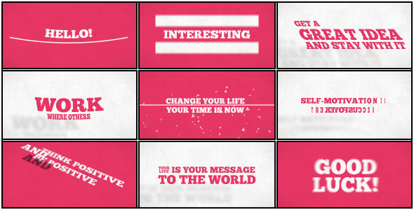 VideoHive Kinetic Typo Project 3444831