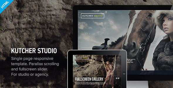 ThemeForest Kutcher Studio Responsive Parallax Template 3431507
