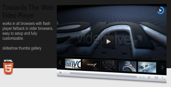 CodeCanyon Towards The Web HTML5 Video Player 3431408