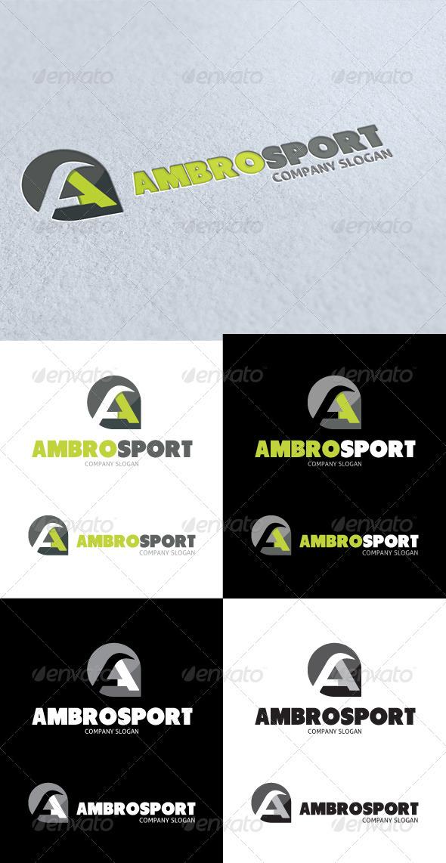 GraphicRiver Ambro Sport A Letter Logo 3413958