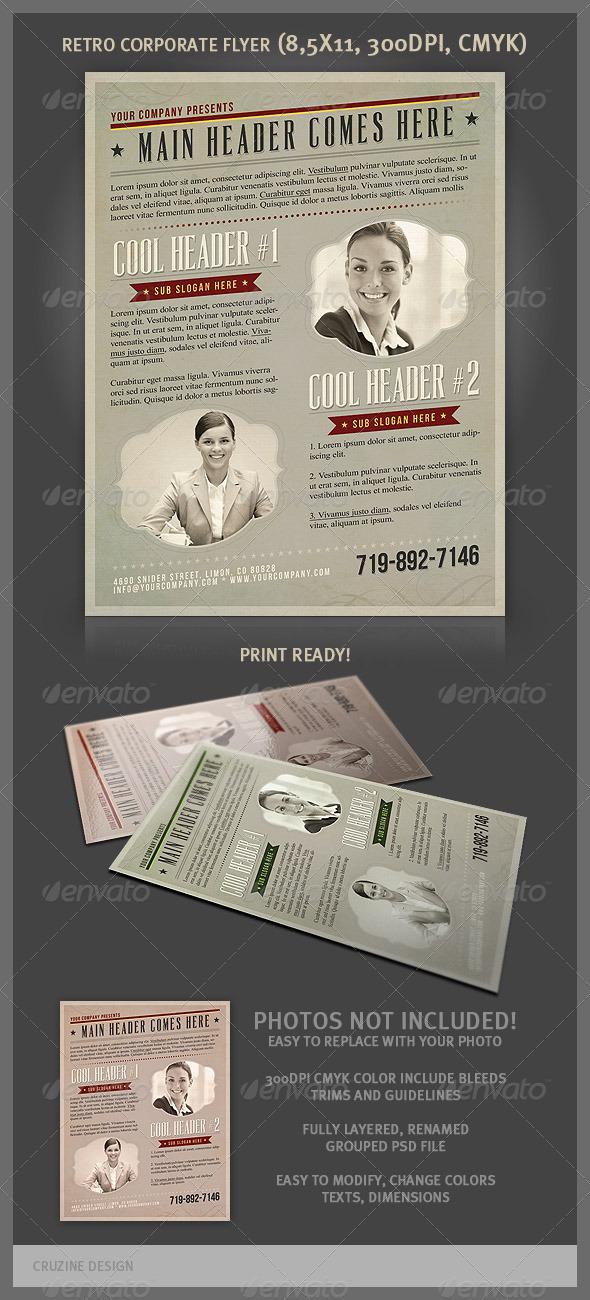 GraphicRiver Retro Corporate Flyer 3445573