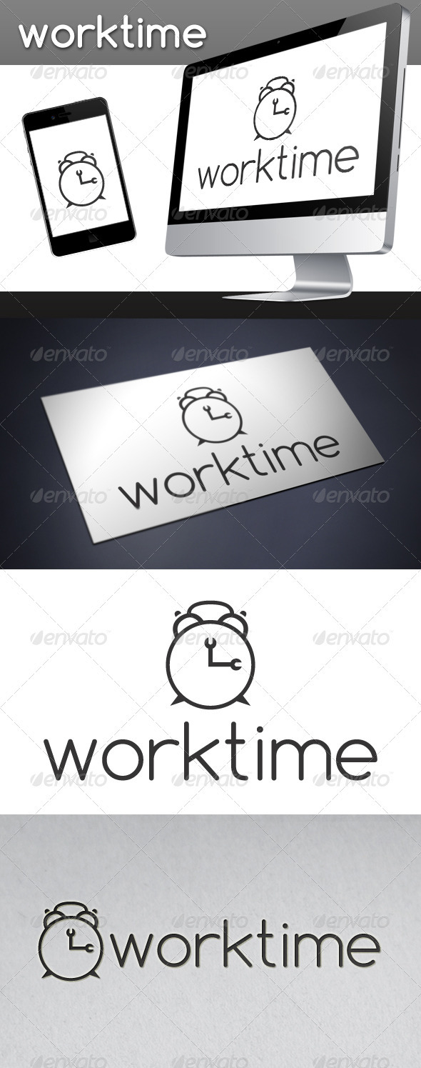GraphicRiver Work Time Logo 3413974