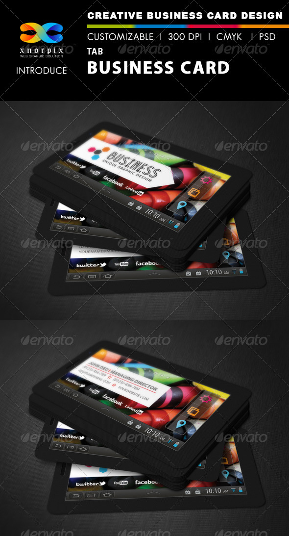 GraphicRiver Tab Business Card 3400229