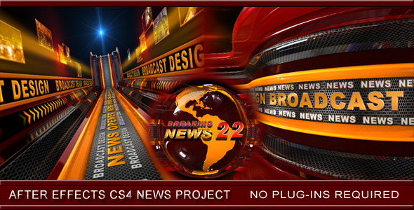 [VideoHive 3445978] Broadcast Design News Opener | After Effects Project