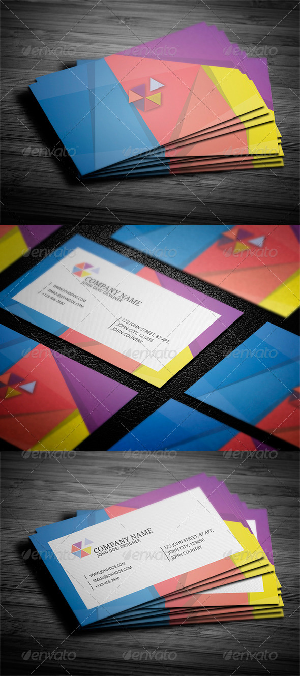 GraphicRiver Geometric Style Business Card 3415688