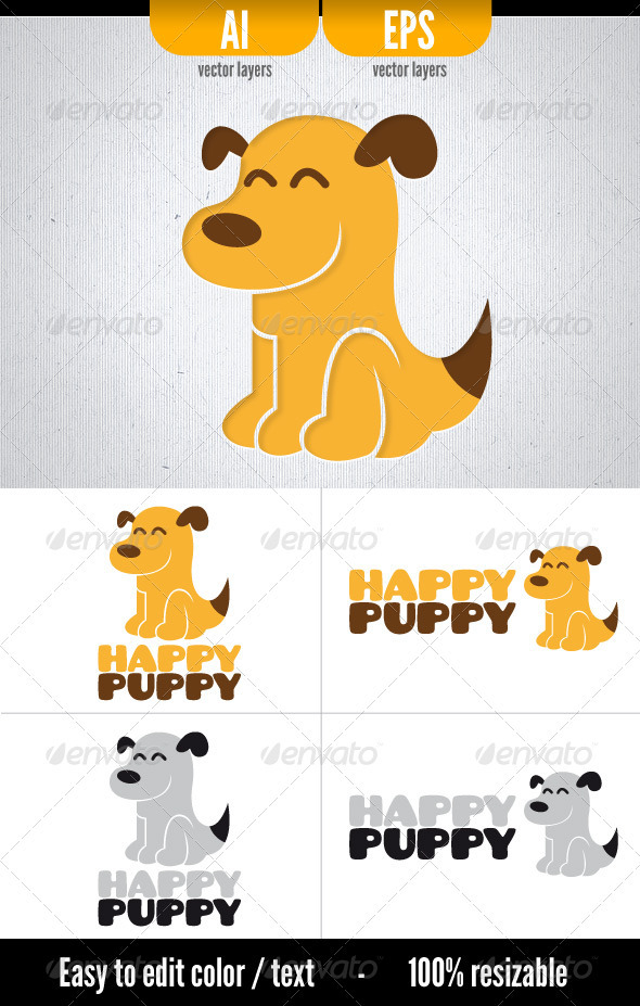 GraphicRiver Happy Puppy 3446557