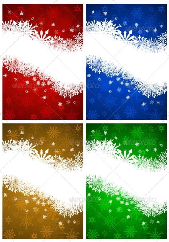 GraphicRiver Christmas Card Set 3446662