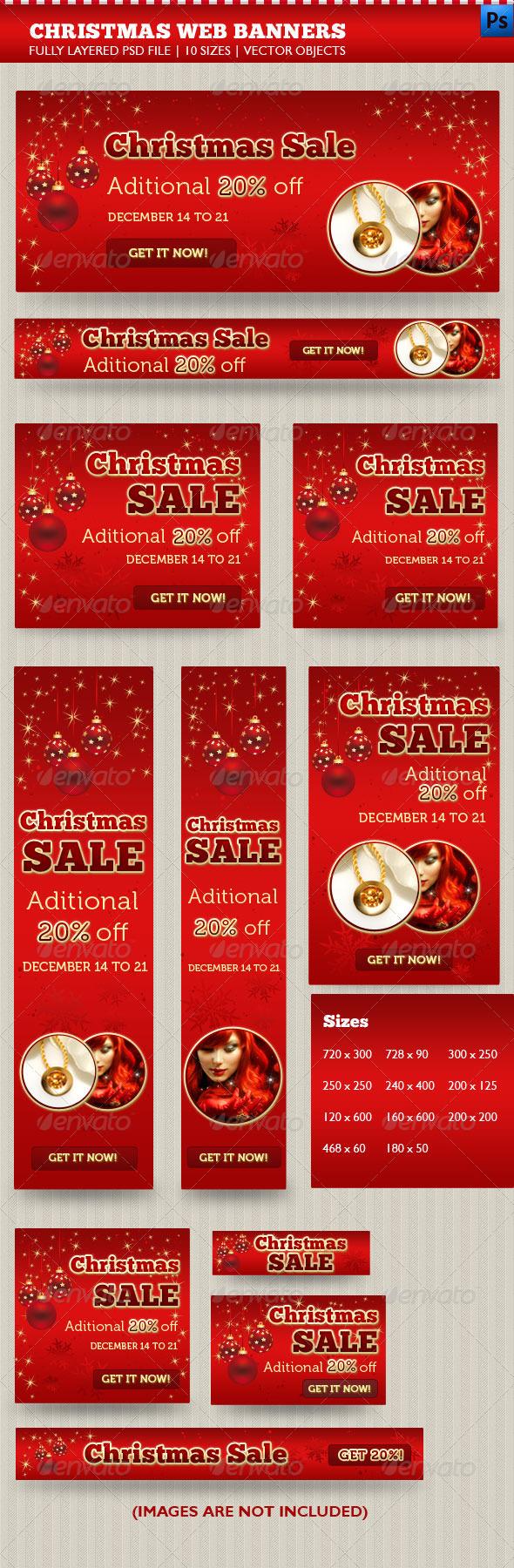 GraphicRiver Christmas Web Banners 3446696