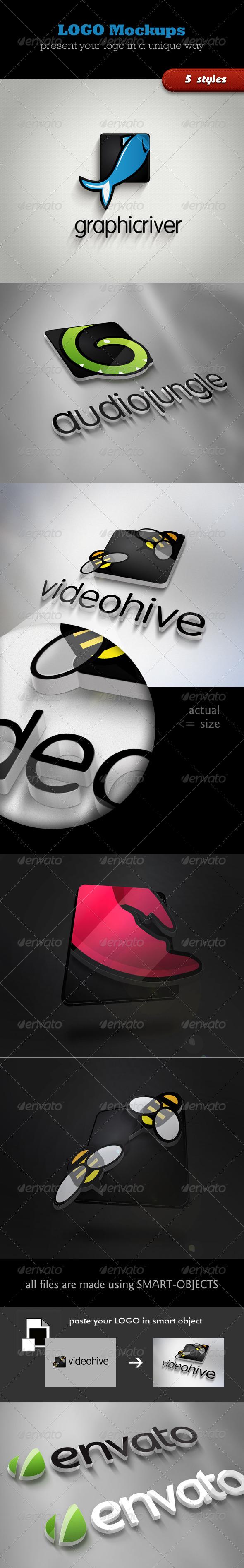 3D Logo Mockups