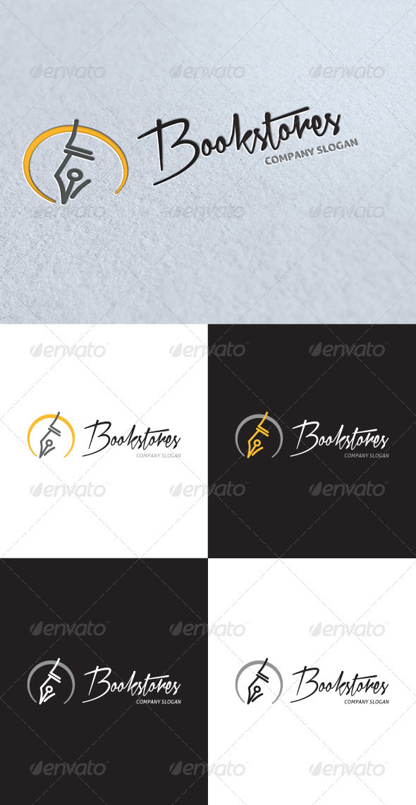 GraphicRiver Book Stores Logo 3413831