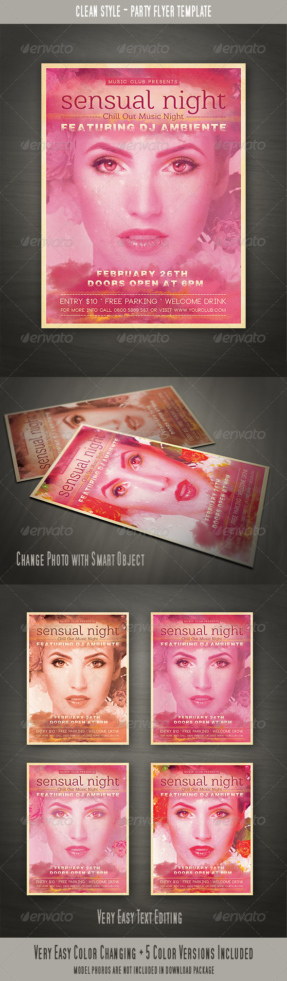 Clean Party Flyer - Clubs & Parties Events