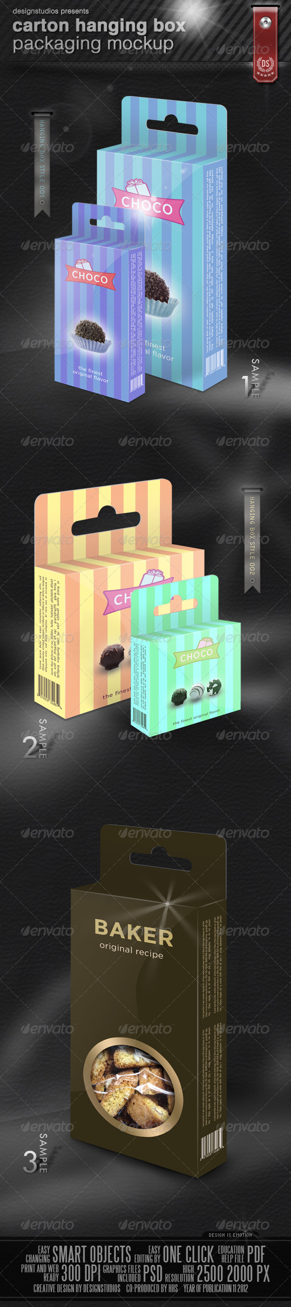 GraphicRiver Carton Hanging Box Packaging Mock-Up 3446898
