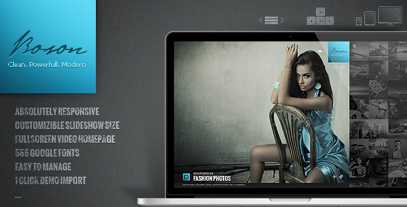 ThemeForest Boson creative photo and video WP theme 3447071