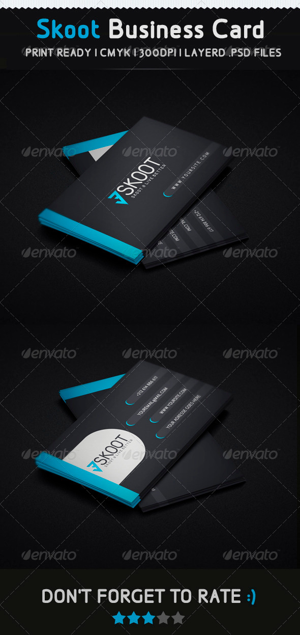 GraphicRiver Skoot Creative Business Card 3447075