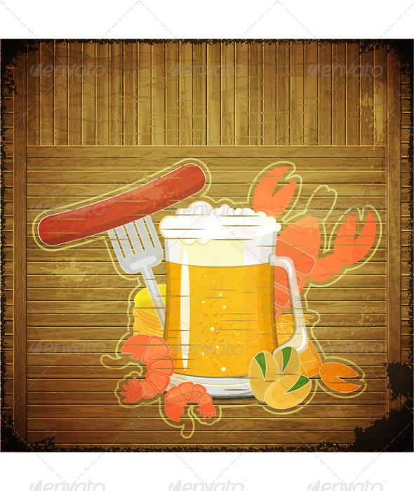 GraphicRiver Grunge Design Beer Menu 3447409
