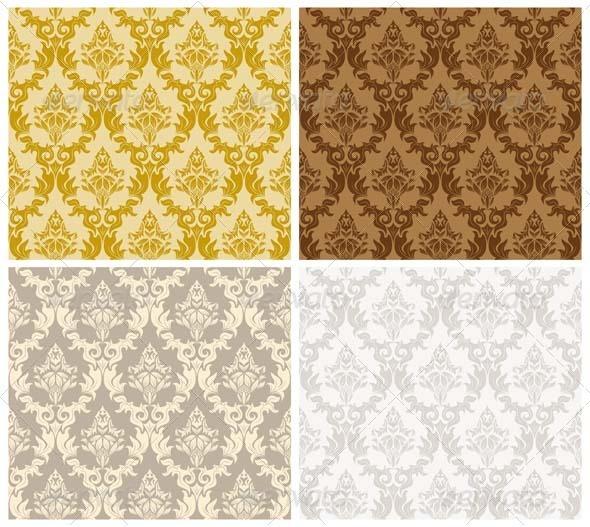 GraphicRiver Damask Seamless Pattern Set 3447678