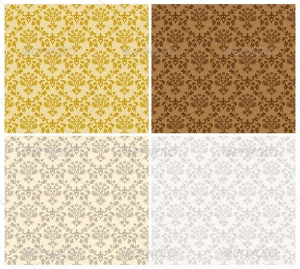 GraphicRiver Damask Seamless Pattern Set 3447700