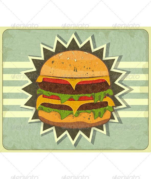 GraphicRiver Retro Cover for Fast Food Menu 3447806