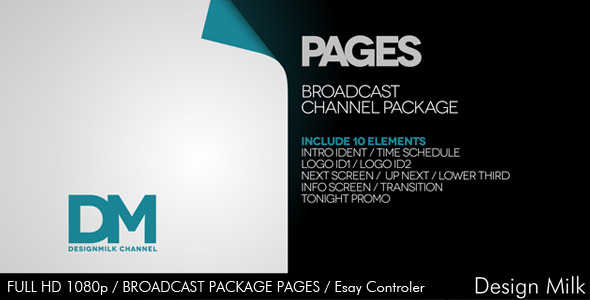 VideoHive Broadcast Package Pages 3447987