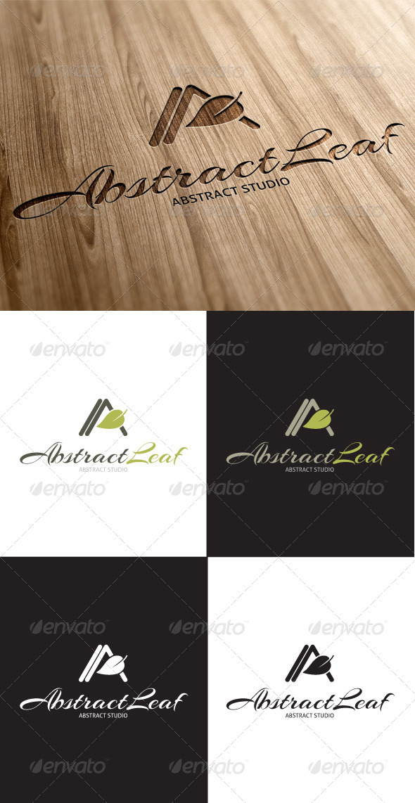 GraphicRiver Abstract Leaf A Letter Logo 3414609