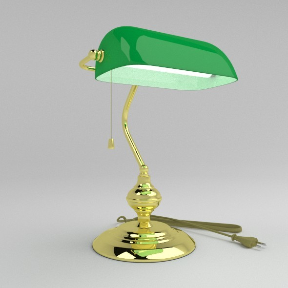 Banker Lamp - 3DOcean Item for Sale