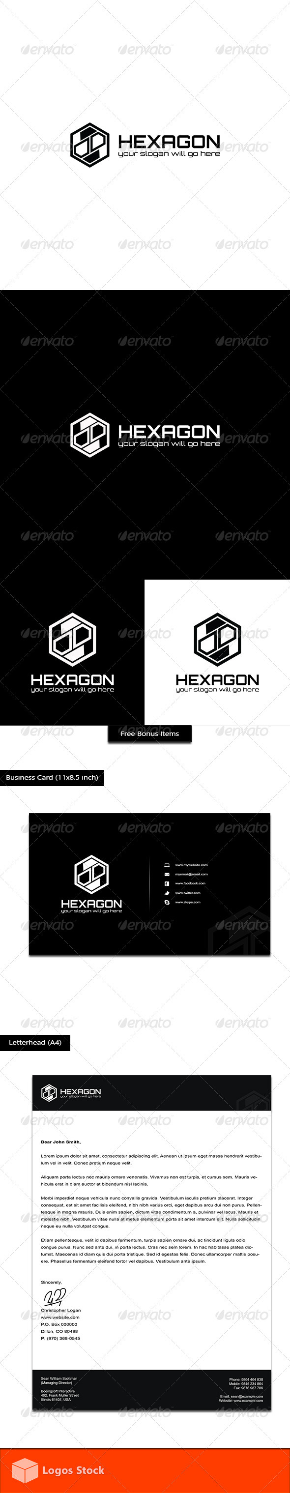 Abstract Logo - Hexagon - Vector Abstract