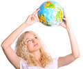 Woman with Globe - PhotoDune Item for Sale