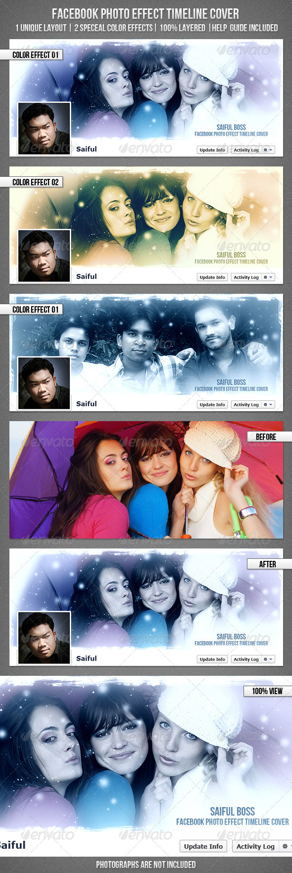 GraphicRiver FB Photo Effect Timeline Cover 3448572