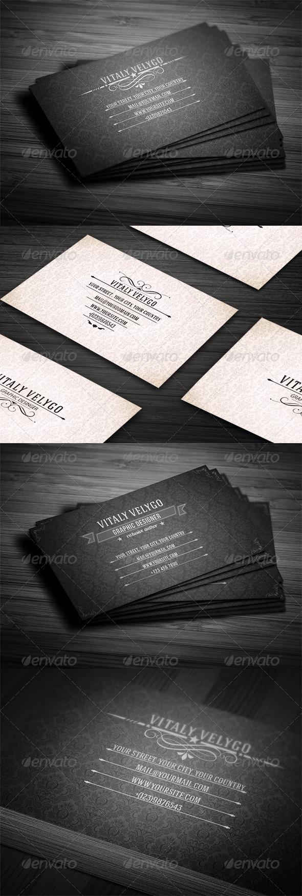 GraphicRiver Vintage Business Card Bundle 3 in 1 3448800