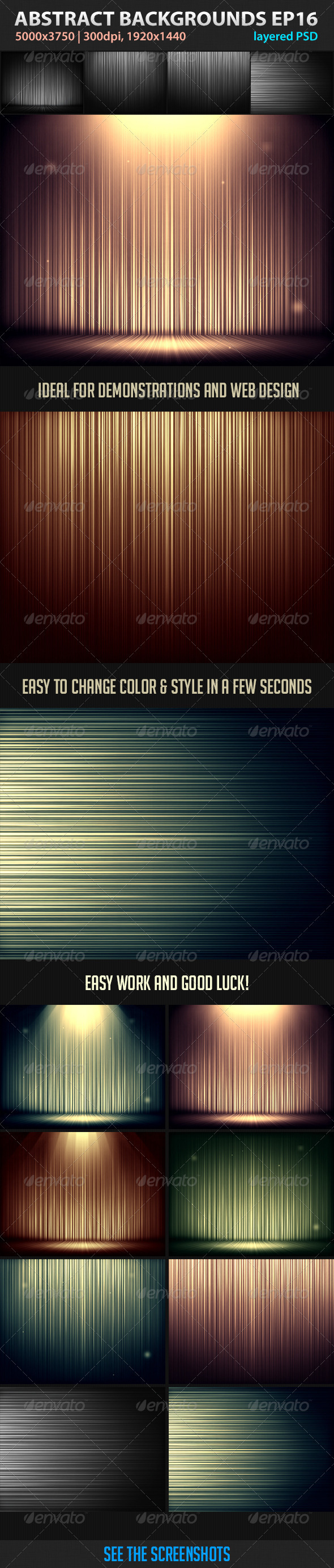 GraphicRiver Edit Abstract Backgrounds Episode 16 3448889