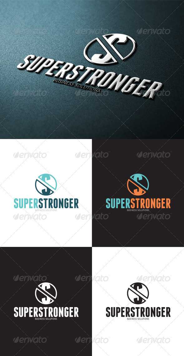 GraphicRiver Super Strong S Letter Logo 3414767