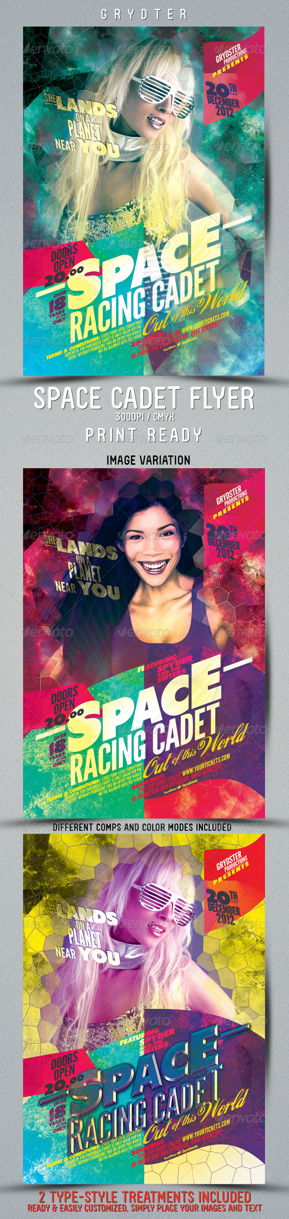 GraphicRiver Space Cadet Flyer template 3448901