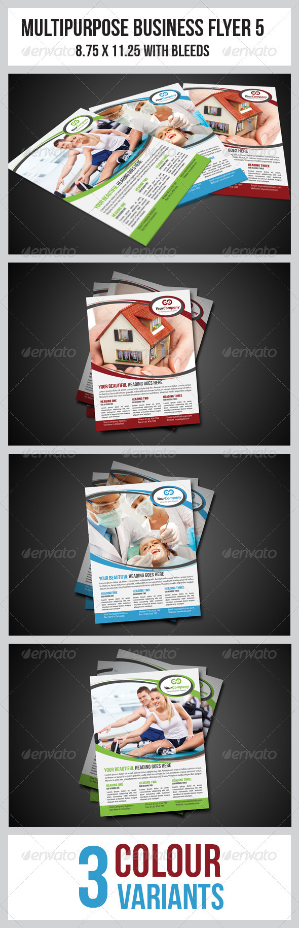 GraphicRiver Multipurpose Business Flyer 5 3449057